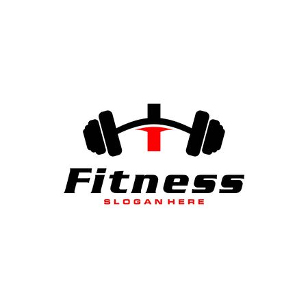 Letter I Logo With barbell. Fitness Gym logo. fitness vector logo design for gym and fitness.