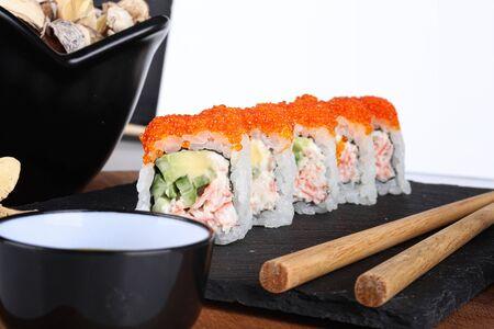 Overhead japanese sushi food