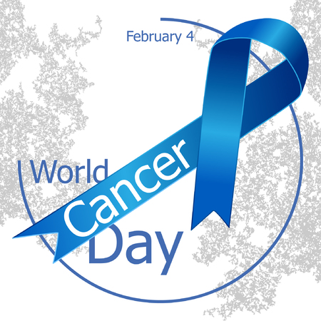 February 4. World cancer day design background with pink. World Cancer Day. Illustration