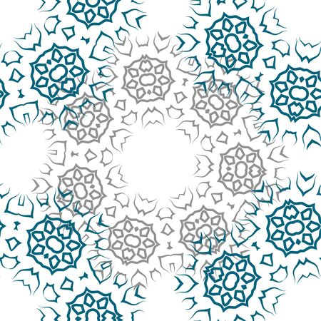 Vector pattern abstract ornament, blue and gray.