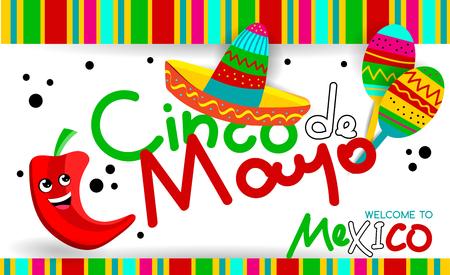 Mexican Cinco de Mayo fiesta party greeting card. invitation, party, greeting card, fiesta, bar, restaurant, menu