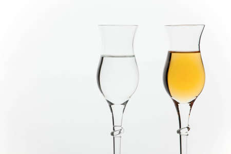 grappa: Two different kinds of italian grappa