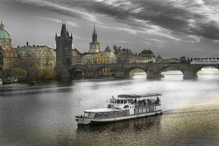central europe: Charles Bridge Prague Czech Republic Central Europe    Stock Photo