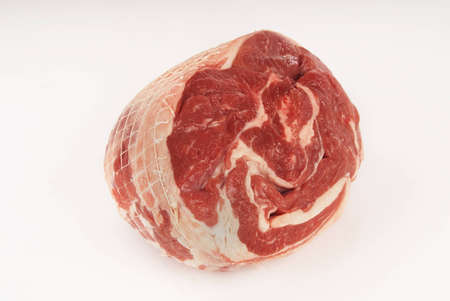 boned: Boneless Lamb Shoulde against white