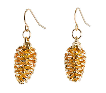 Real Cone earrings plated in Gold