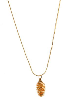 Real Cone necklace plated in Gold
