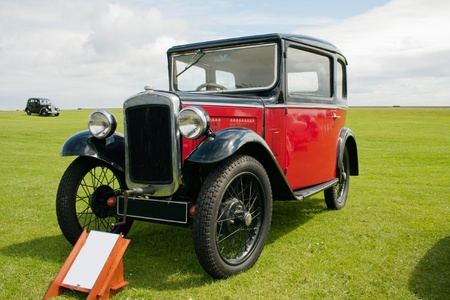 Photograph of vintage english classic car