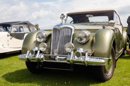 Photograph of Riley vintage english classic car  Editorial