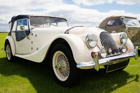 Photograph of Morgan vintage english classic car  Editorial