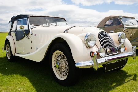Photograph of Morgan vintage english classic car  Editorial