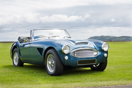 car wheels: Austin Healey 3000 MK3 Stock Photo