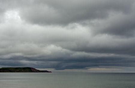 Stormy seascape over Irish Sea Stock Photo