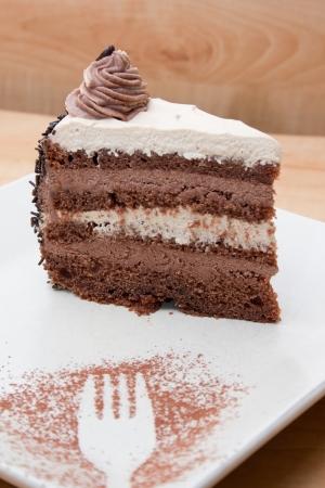 Photograph of coffe walnut cake