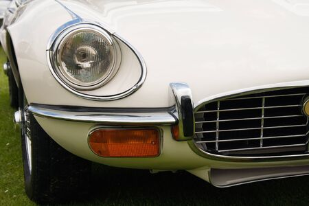 English classic sports car front view detail  Stock Photo