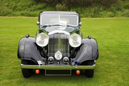 Photograph of English retro car