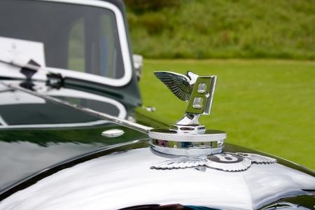 English retro car symbol