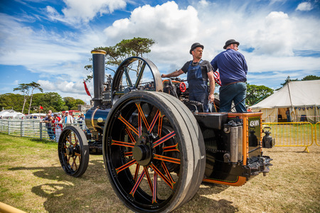 traction: Steam Traction vehicle on Manx Southern Agricultural Show taken on 31.7.2016 near old Isle of Man capital- Castletown.