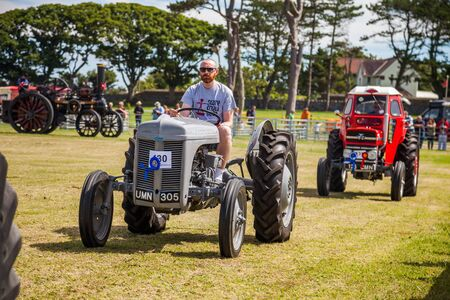 Vintage tractors at Manx Southern Agricultural Show taken on 31.7.2016 near old Isle of Man capital- Castletown. Editorial