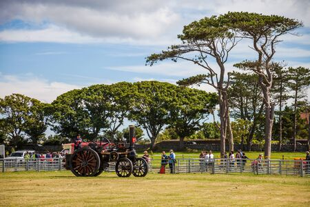 steam traction: Steam Traction vehicle at Manx Southern Agricultural Show taken on 31.7.2016 near old Isle of Man capital- Castletown. Editorial