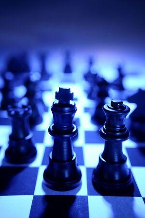 ajedrez: Ajedrez equipo  Foto de archivo