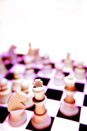 analogy: Chess pieces Stock Photo