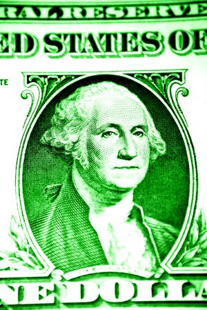George Washington on U.S. one dollar banknote photo
