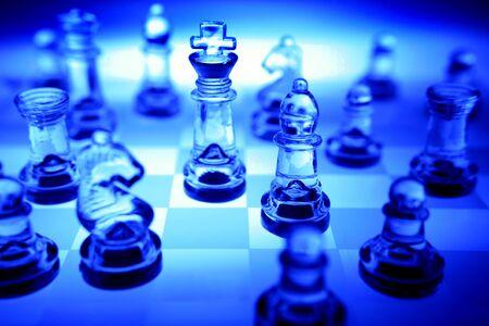 analogy: Chess game Stock Photo