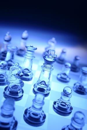 analogy: Chess team Stock Photo