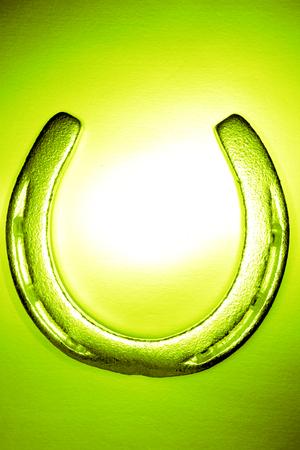 hope indoors luck: Horseshoe Stock Photo