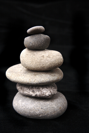 Stones stacked on each other photo