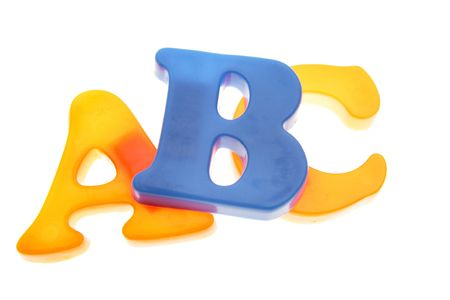 ABC letters on white Stock Photo - 2039731