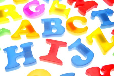 Alphabet letters over white Stock Photo - 2039746