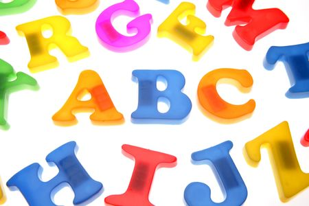 Alphabet letters over white Stock Photo - 2039745