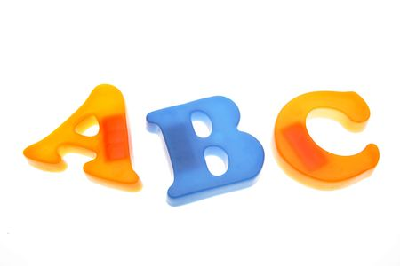 ABC letters isolated on white Stock Photo - 2039728