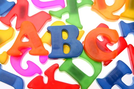 Alphabet letters over white Stock Photo - 2039758