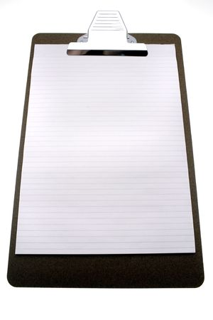 clipboard isolated: Clipboard isolated over white