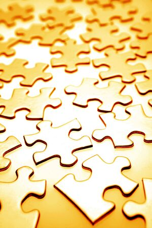 Jigsaw puzzle pieces photo