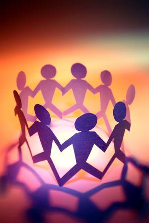 human likeness: Team holding hands