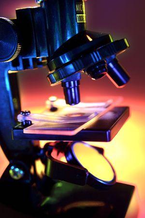forensic medicine: Microscope Stock Photo