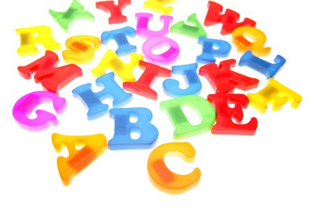 Colorful alphabet letters over white Stock Photo - 2131471