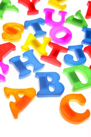 Colorful alphabet letters over white Stock Photo - 2131481
