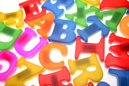 Colorful alphabet letters over white Stock Photo - 2131509
