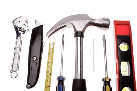 Tools on white photo