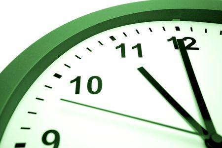 12 o'clock: Clock face Stock Photo