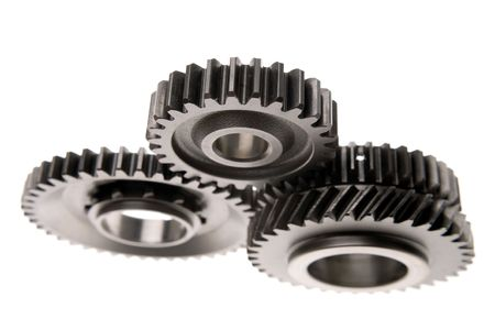 Three gears isolated over white photo