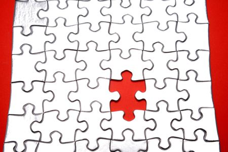 alongside: Piece missing from jigsaw puzzle