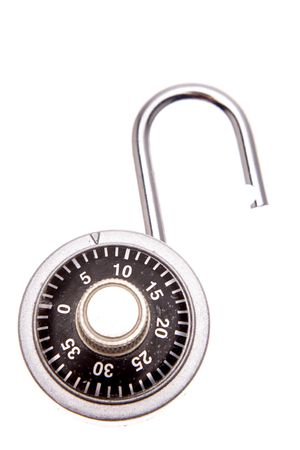 Open padlock isolated Stock Photo - 2163146