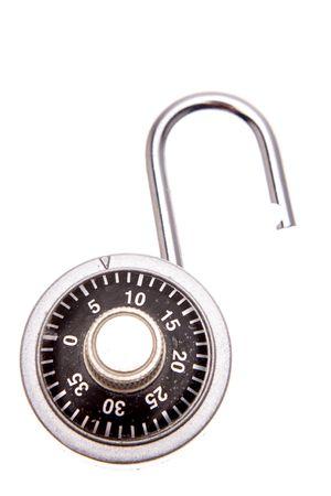 Open padlock isolated Stock Photo - 2163146