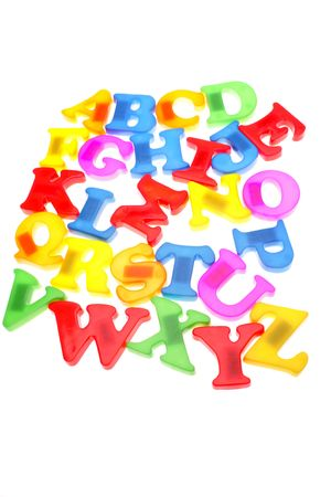 Colorful alphabet letters over white Stock Photo - 2165582