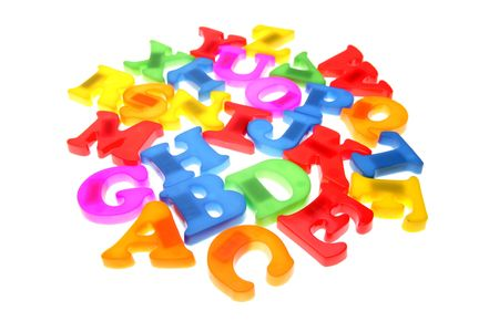 Colorful alphabet letters over white Stock Photo - 2165579